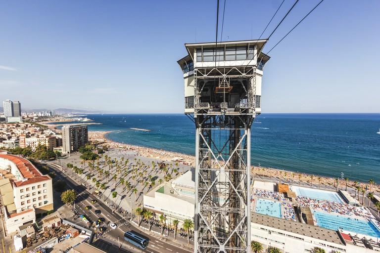 Old cable way in Barcelona, The Teleferico Barcelona| © Vlastimil Vojacek/Shutterstock