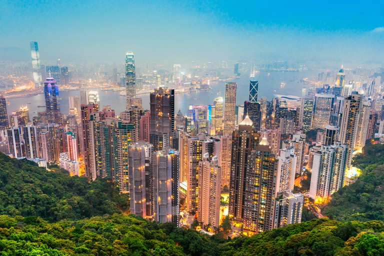 Hong Kong skyline. View from Victoria Peak ©Luciano Mortula