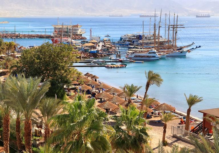 Eilat resort Red sea beach, Israel | © Protasov AN/Shutterstock