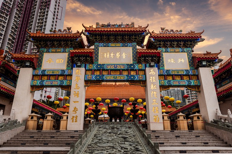 Sik Sik Yuen temple (also called Wong Tai Sin temple) in Hong Kong is home to three religions: Buddhism, Confucianism, and Taoism I © Vincent St. Thomas/Shutterstock