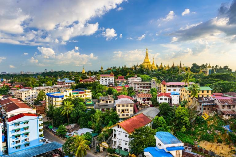 Yangon, Myanmar city skyline ©Sean Pavone