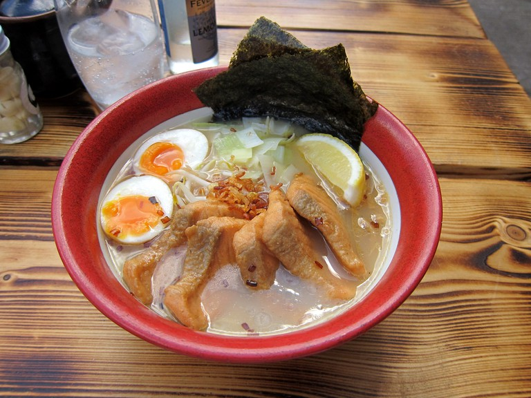 Salmon Ramen at Bone Daddies, Soho |© Bex Walton/Flickr