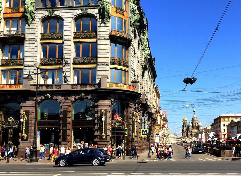 Cafe Singer auf dem Newski Prospekt, St. Petersburg  ©Andreas Hobi/Shutterstock