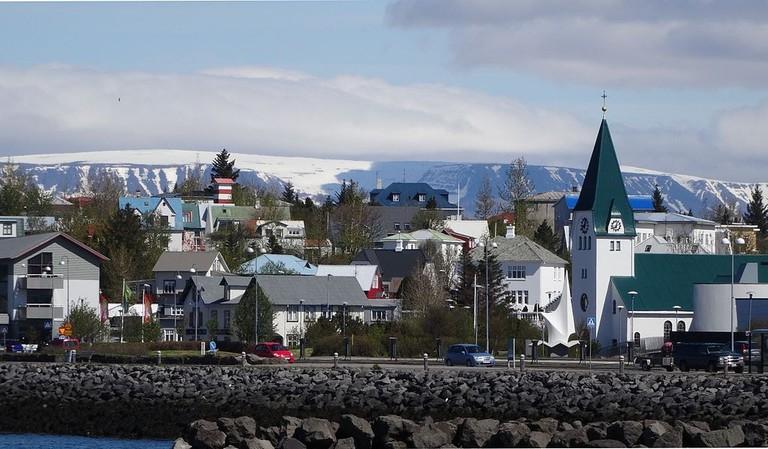 "View of Hafnarfjörður Harbor, Iceland | <a href=""https://commons.wikimedia.org/wiki/File:Hafnarfj%C3%B6r%C3%B0urHarbourView.JPG"" target=""_blank"" rel=""noopener"">© Udm/WikiCommons</a>"