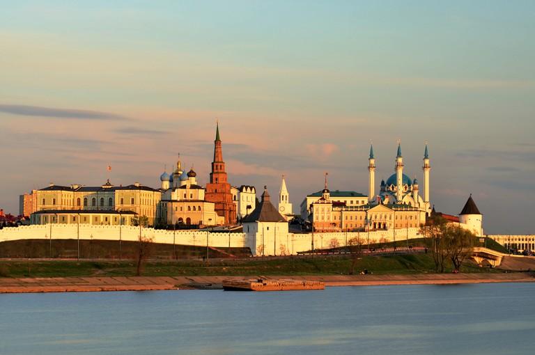 Kazan sits on the confluence of the Volga and Kazanka Rivers