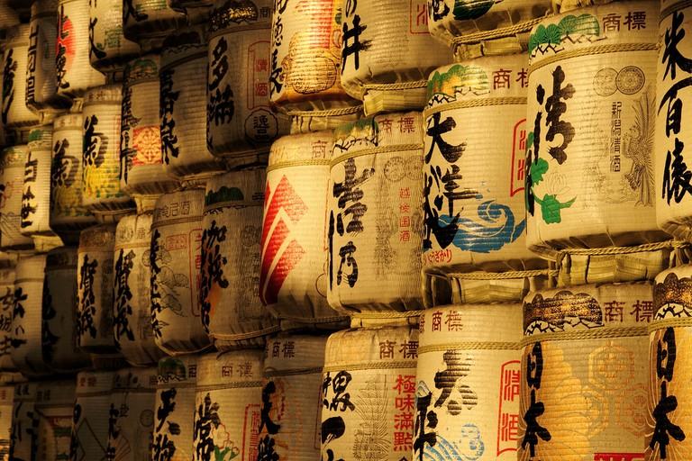 Sake Barrels | ©spaztacular/Flickr