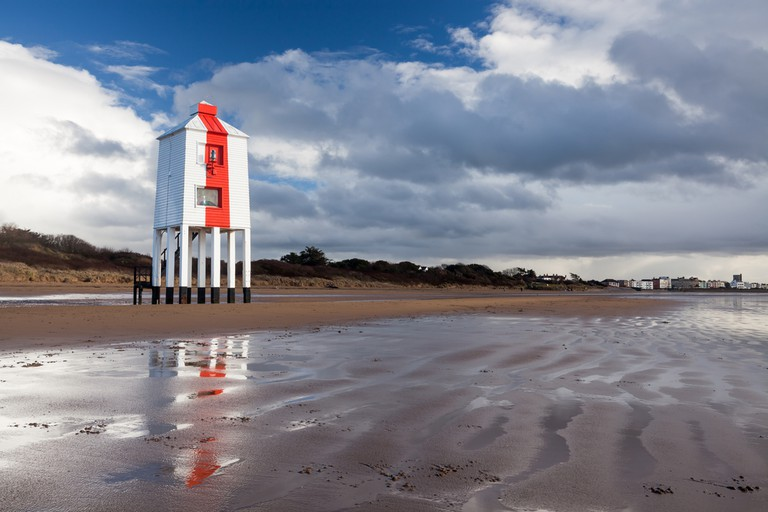 The Low Lighthouse in Bridgewater Bay, England   © ian woolcock/Shutterstock