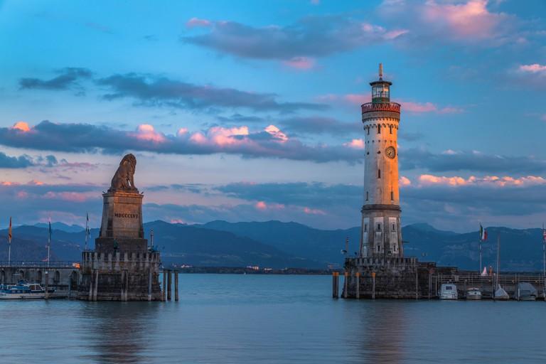 Lindau Lighthouse, Germany   © Lukasz Szwaj/Shutterstock