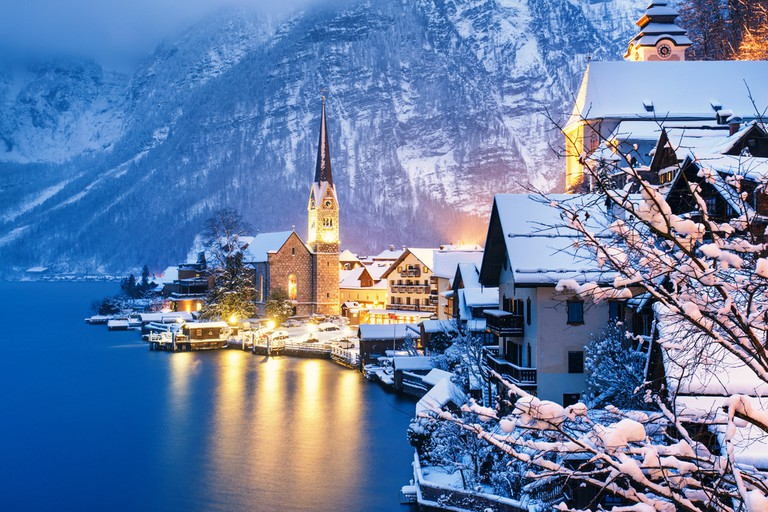 Winter View of Hallstatt