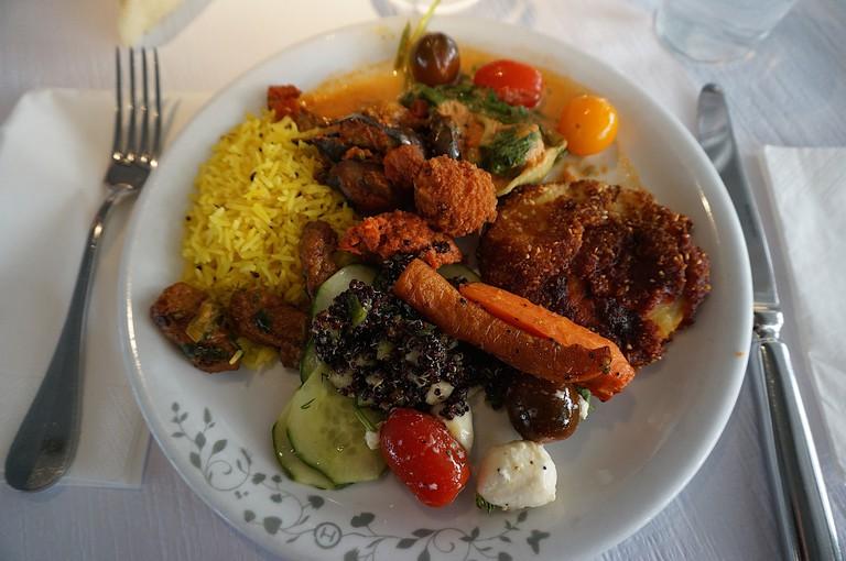 Veggie lunch from The Haus Hiltl |© Kristina D.C. Hoeppner/Flickr
