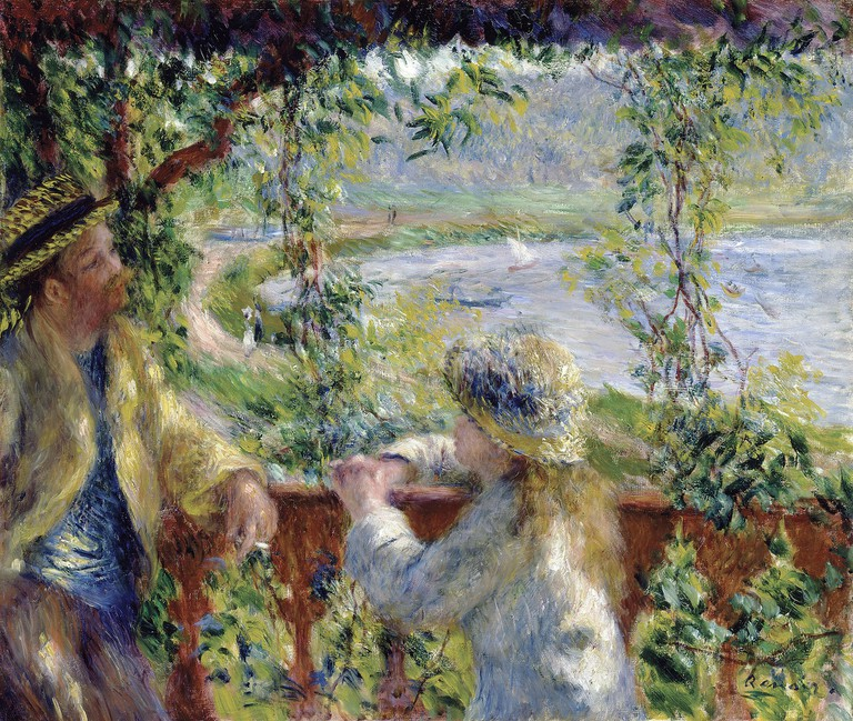By the Water by Renoir, One of Riley's Influences | © Pierre-Auguste Renoir/WikiCommons