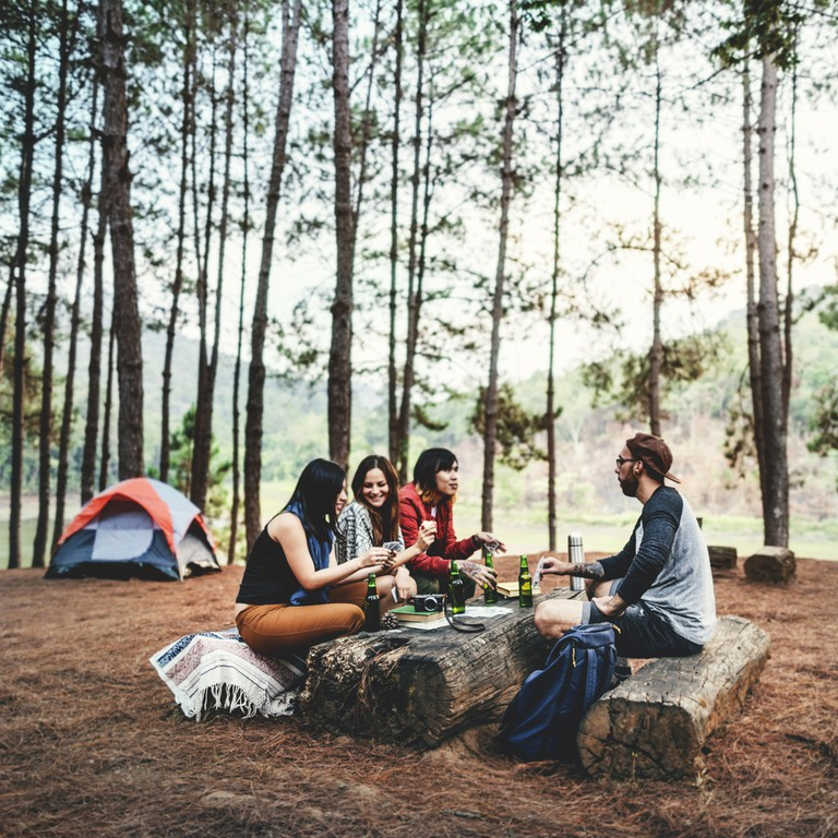 Backpacker Camping Hiking Journey Travel Trek Concept © Rawpixel / Shutterstock