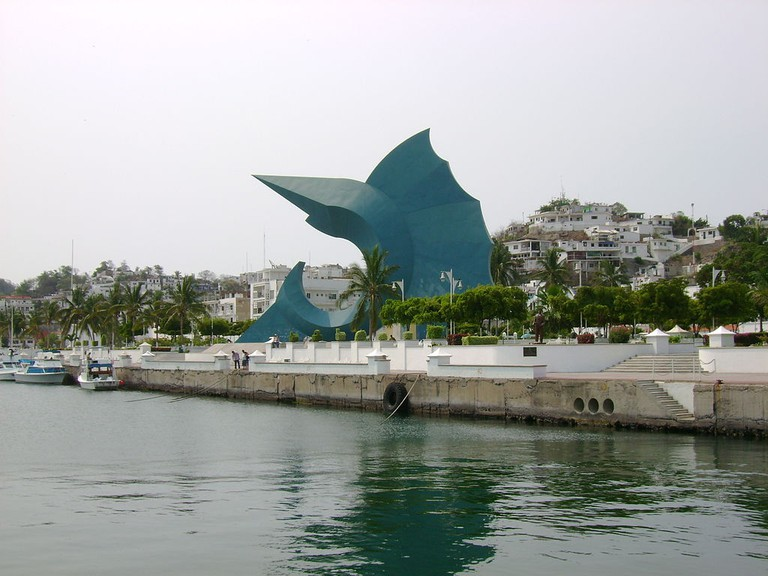 "Sculpture ""Sailfish"" by Enrique Carbajal González (Sebastián) in Manzanillo © Yaomautzin Ohtokani Olvera Lara/WikiCommons"