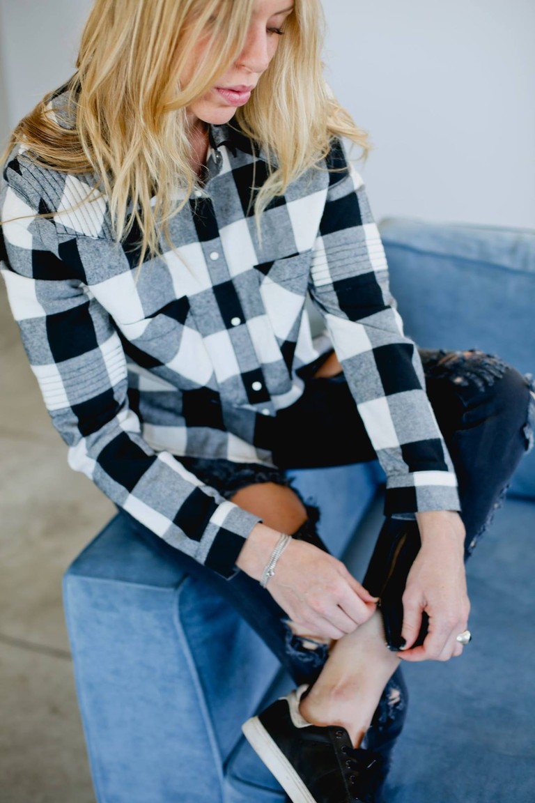 Eleven Paris Flannel paired with One Teaspoon Jeans © Dvir Fireman