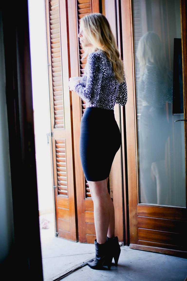 Top by Tart, Skirt by Parker and Heels by Iro © Dvir Fireman