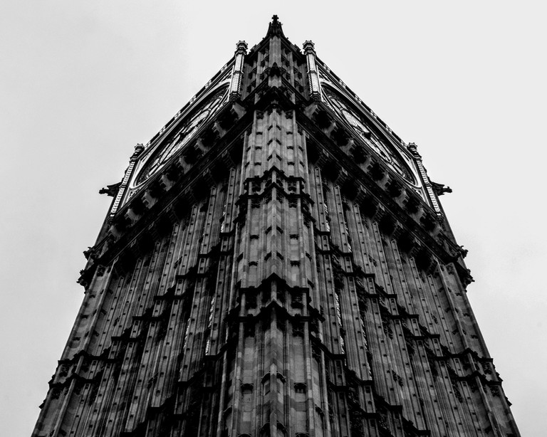 A dramatic angle of Big Ben | © Phil Dolby / Flickr