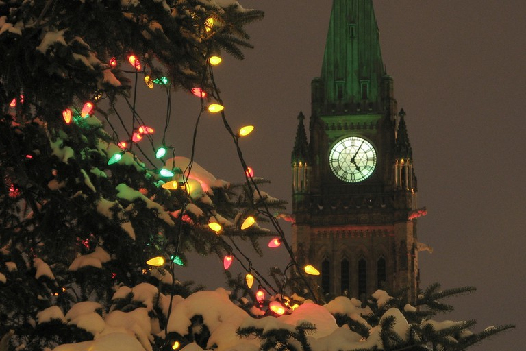 The winter season finds Ottawa, the capital of Canada, covered with elaborate, festive decorations © David Carroll / Flickr