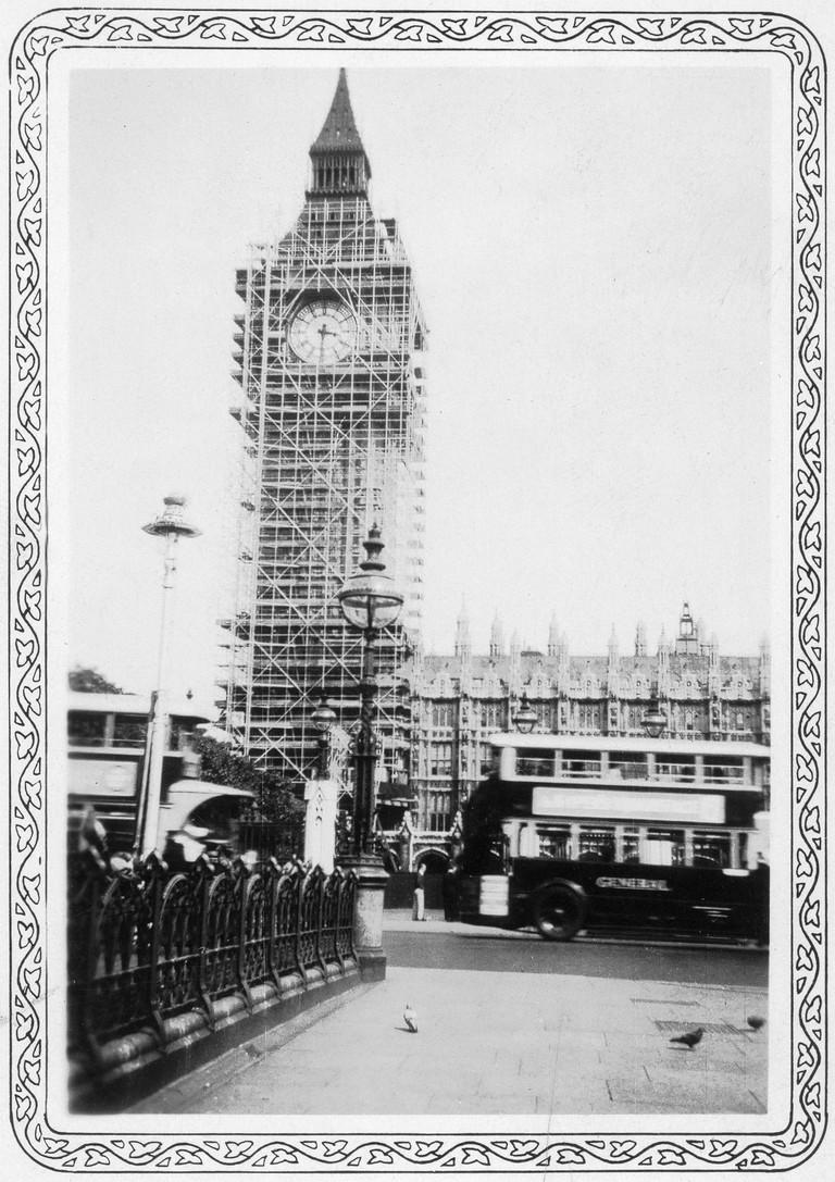 Big Ben under construction | © Ed Uthman / Flickr