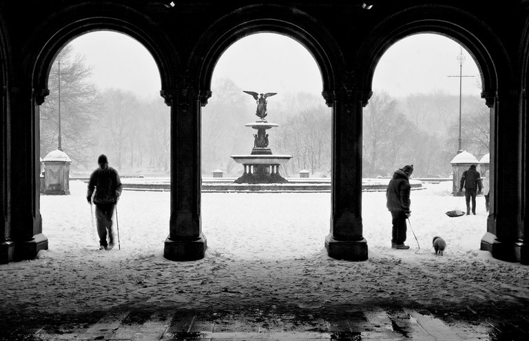 Snowy New York day