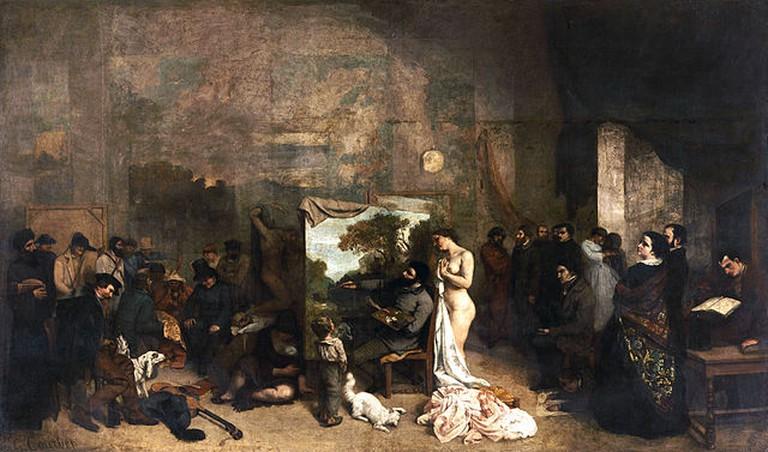 Gustave Courbet 'L'Atelier du peintre' (1855) | © WikiCommons