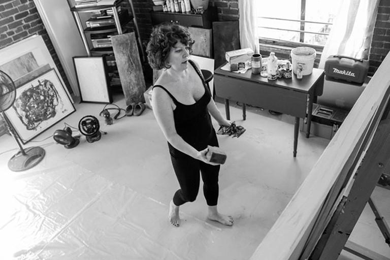 Clara Berta In Studio | Courtesy of Clara Berta