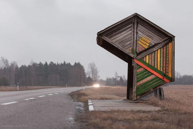 A Bus Stop in Kootsi, Estonia   Courtesy Christopher Herwig
