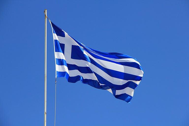 Greek Flag   © GregMontani/Pixabay