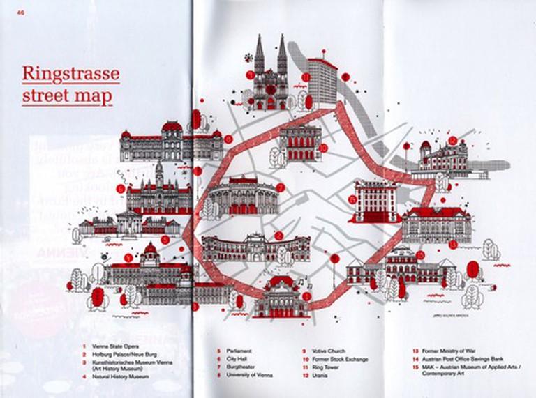 Ringstrasse Street Map   © Roger W/Flickr