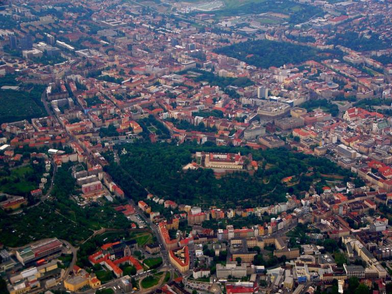 Aerial photo of Špilberk Castle in Brno | © Michal Maňas/WikiCommons