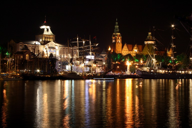 Szczecin by night | © Włodi/WikiCommons
