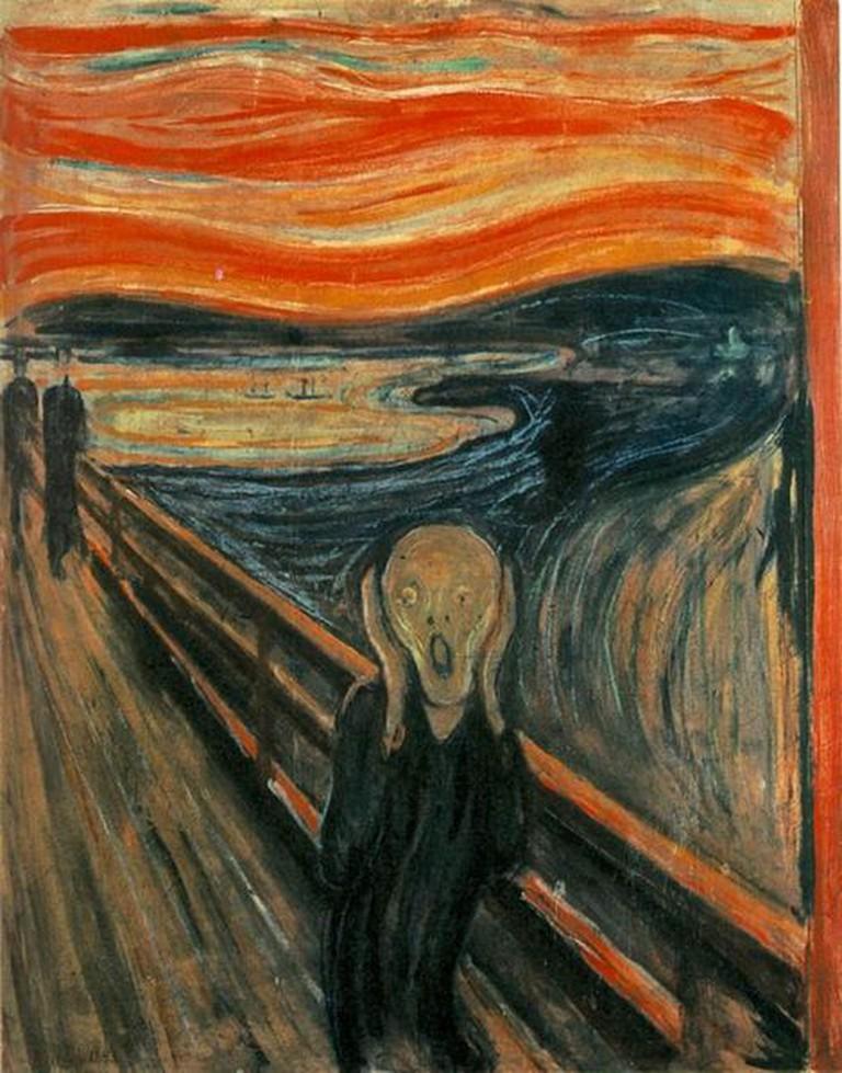 Edvard Munch, The Scream, 1893 -Bibiblio/WikiCommons
