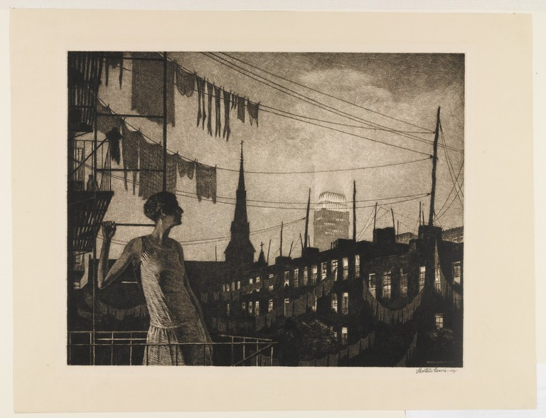 Martin Lewis, The Glow of the City, 1929 | © The Estate of Martin Lewis, The Museum of Modern Art