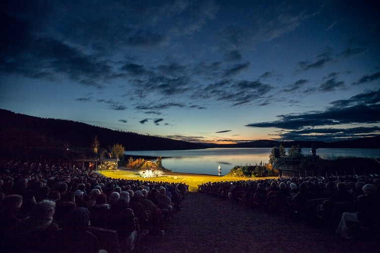 A magical setting for a theatre performance   Courtesy of Peer Gynt festival