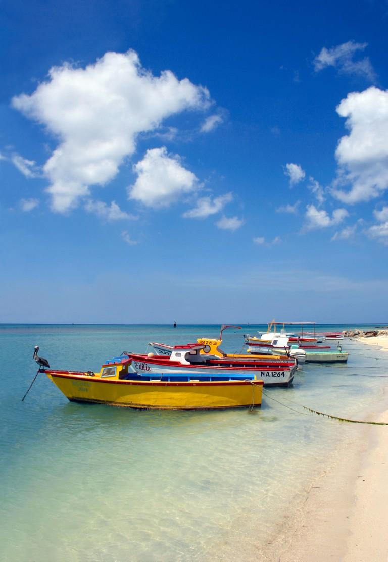 Fishing boats on Beach, Aruba