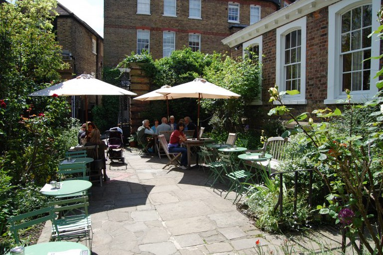 The quaint dining terrace of The Buttery | Courtesy of The Buttery Café