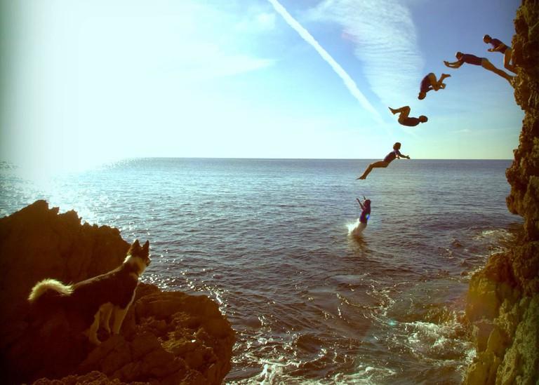 Cliff Jumping   Courtesy of Rockid Ibiza