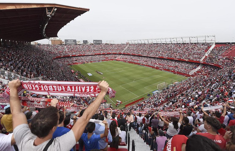 Since its opening in 1958, this soccer stadium with the capacity of seating 45,000 people has hosted a number of European Cup and World Cup games © Courtesy of Sevilla Fútbol Club