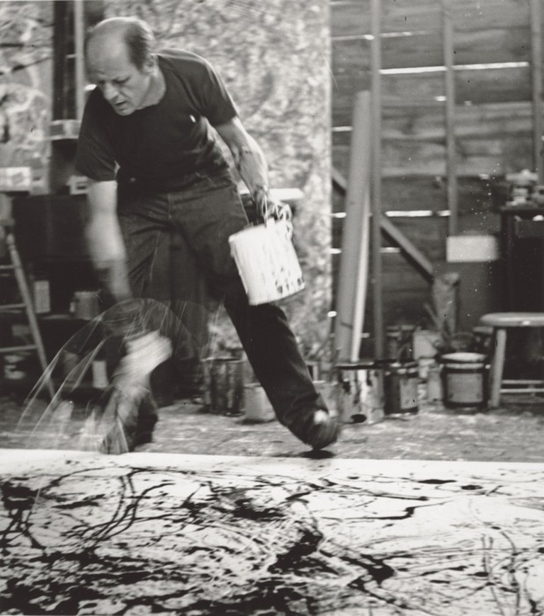 Jackson Pollock, 1950 | Photograph by Hans Namuth | Courtesy Center for Creative Photography, University of Arizona © 1991 Hans Namuth Estate