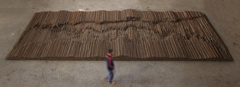 Ai Weiwei, Straight, 2008-12 | Steel Reinforcing Bars | Lisson Gallery, London | Image courtesy of Ai Weiwei (c) Ai Weiwei