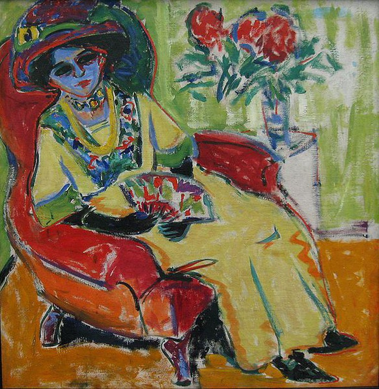'The Sitting Woman' by Ernst Ludwig Kirchner | © Rufus46/WikiCommons