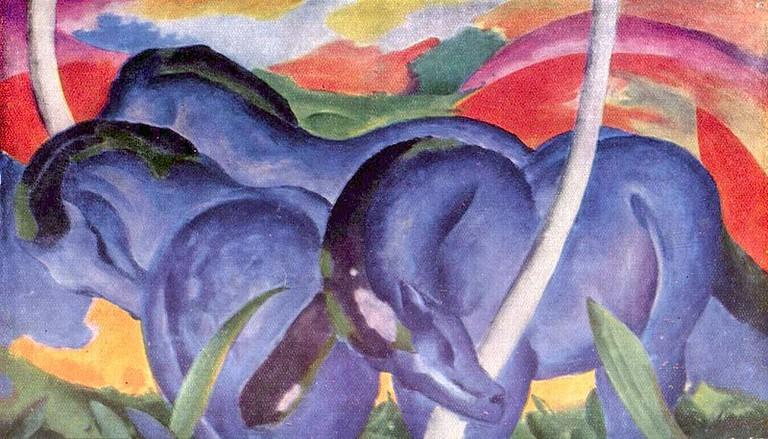 'Die großen blauen Pferde' by Franz Marc | © Directmedia Publishing/WikiCommons