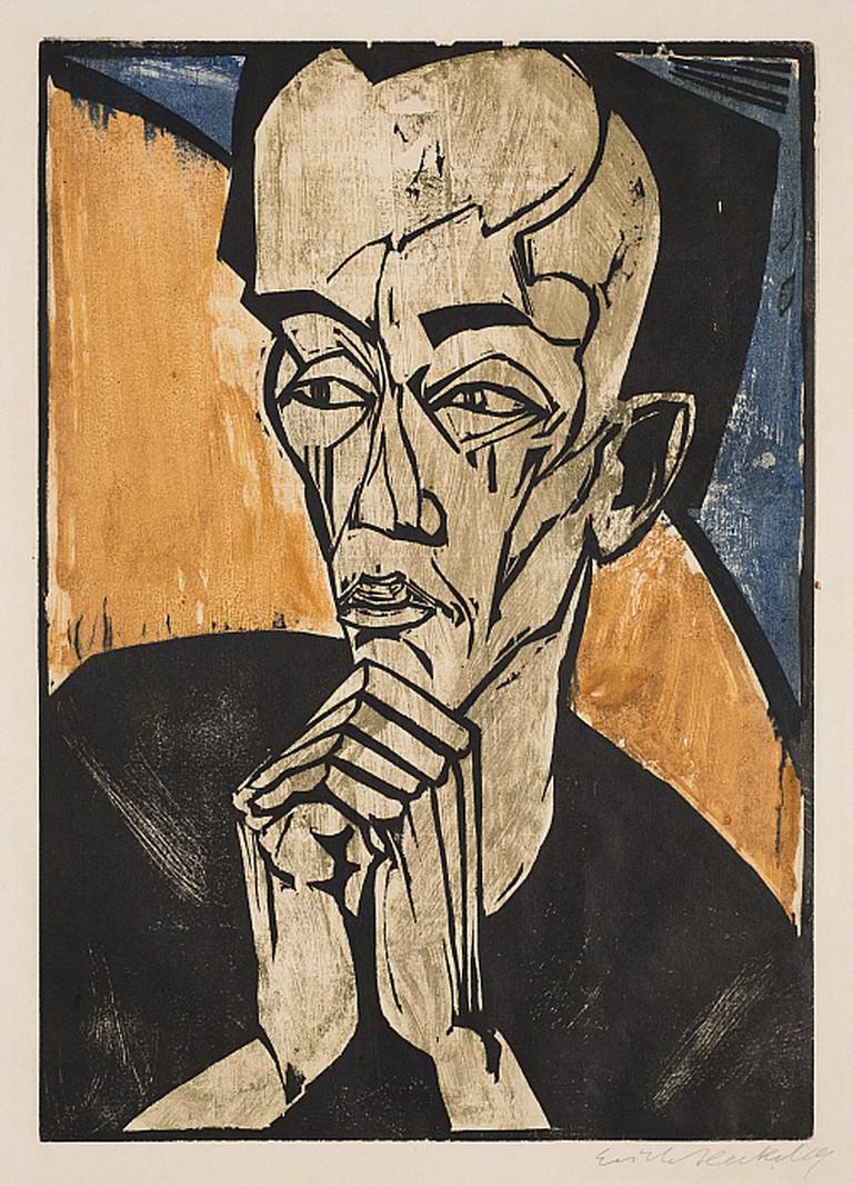 Erich Heckel, Portrait of a Man, 1918