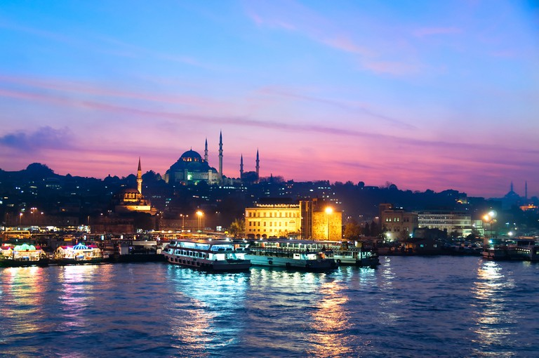 Twilight by the Bosporus in Istanbul