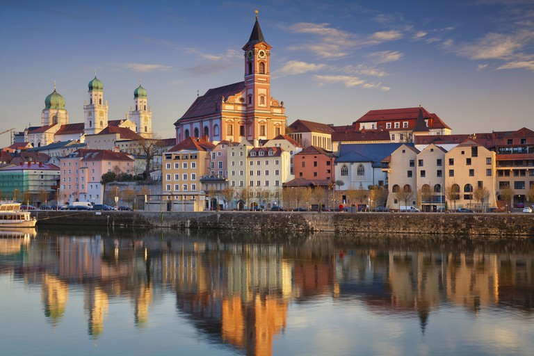 Passau skyline during sunset, Bavaria, Germany | © Rudy Balasko/Shutterstock