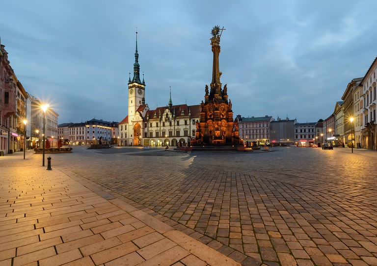 Town hall and Holy Trinity Column in the main square of the old town of Olomouc, Czech Republic © Velishchuk Yevhen / Shutterstock