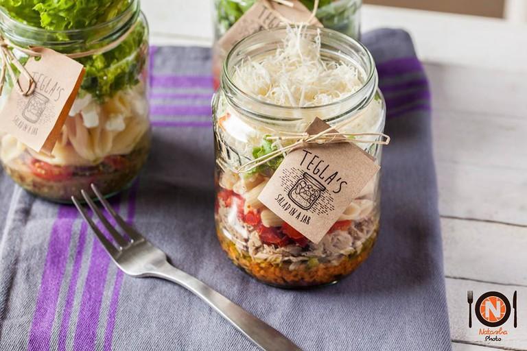 Tegla's salad in the jar | © Courtesy of Tegla's