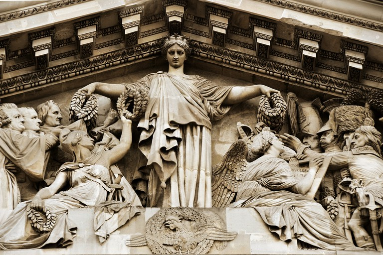 Marianne, pediment of the Panthéon | © Sean X. Liu/Flickr