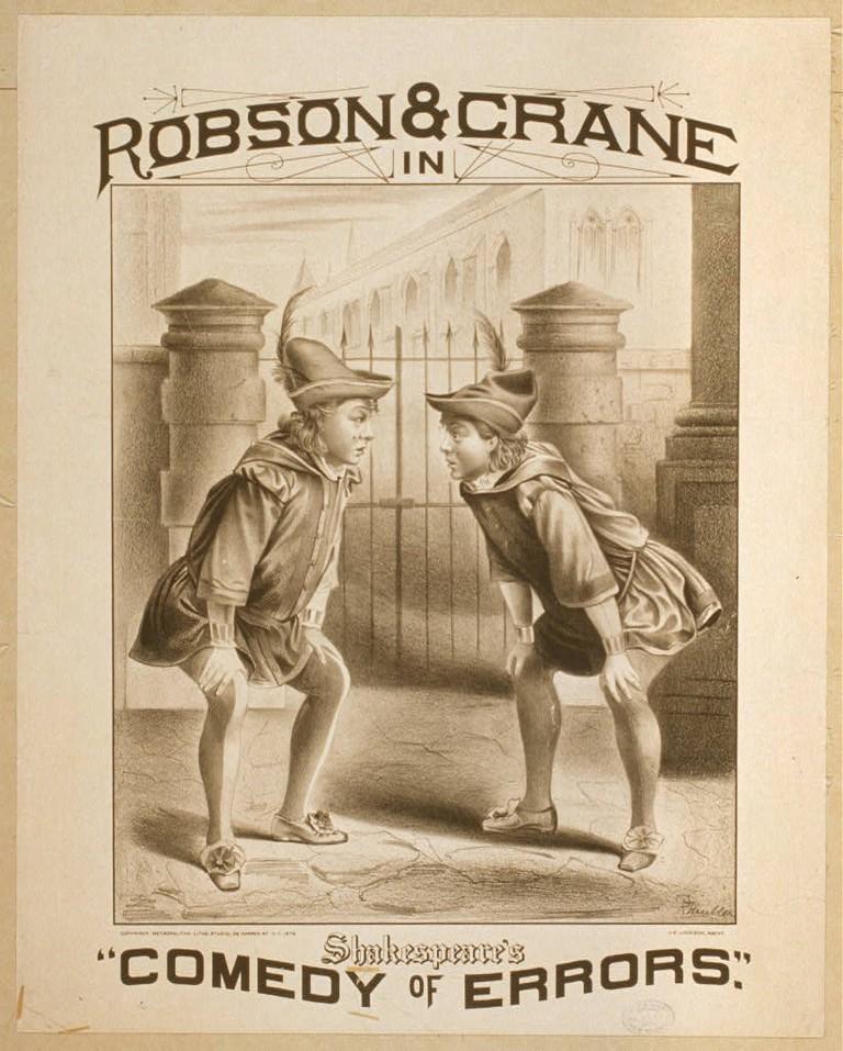 "Robson & Crane in Shakespeare's ""Comedy of Errors""|© Metropolitan Litho. Studio 1879/Wikimedia"