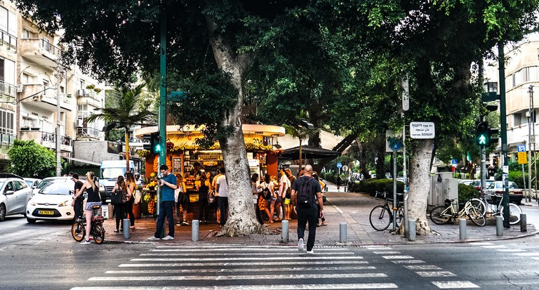 Ben Gurion and Dizengoff Streets