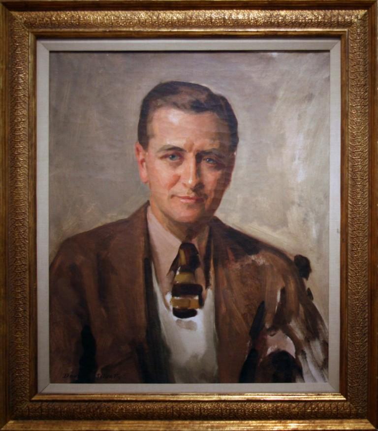 F. Scott Fitzgerald, 1935 by David Silvette, Oil on canvas  © Cliff/Flickr